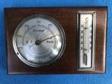 Barometru cu termometru german,corp din lemn