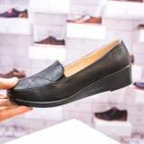 Pantofi dama cu platforma negri Davino -rl
