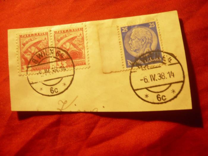 Fragment cu circulatie mixta Austria si Germania 1938