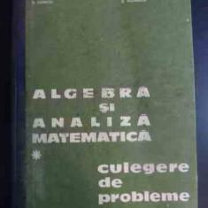 Algebra Si Analiza Matematica Culegere De Probleme - N.donciu D.flondor ,541992