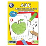 Carte de colorat cu activitati in limba engleza si abtibilduri ABC, orchard toys