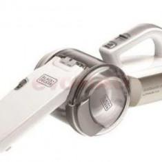 Aspirator portabil Black & Decker PV1420L, cap rotativ, 14,4V (Alb)