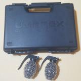 cutie transport + 1000 bile otel 6 mm+ 10 capsule umarex NUMAI PT WALTHER P 99