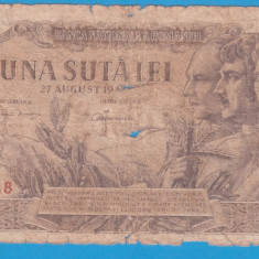 (20) BANCNOTA ROMANIA - 100 LEI 1947 (27 AUGUST 1947)