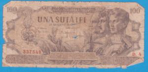 (20) BANCNOTA ROMANIA - 100 LEI 1947 (27 AUGUST 1947)