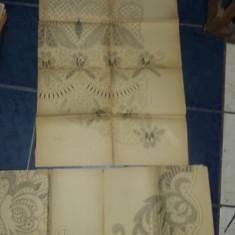 lot 13 planse mari cu modele/tipare de cusaturi traditionale romanesti,T.GRATUIT