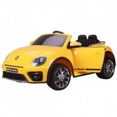 Masinuta electrica Copii Chipolino Volkswagen Beetle Dune yellow