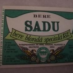Eticheta bere Romania - SADU Sibiu !