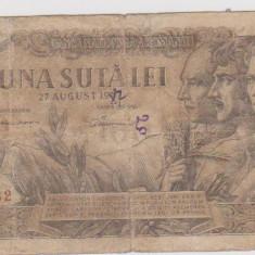 100 LEI 27 AUGUST 1947/CALITATE BUNA
