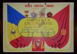 DIPLOMA DE ONOARE, U.T.C., ION BAESU, 1987