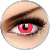 Glow Red - lentile de contact colorate Crazy rosii anuale - 360 purtari (2 lentile/cutie)