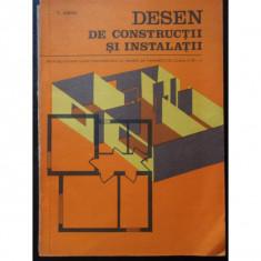 Desen de constructii si instalatii - V. Sirbu