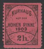 Romania 1903 - Timbru 2h dantelat Hohe Rinne, varietate nedantelat pe o latura