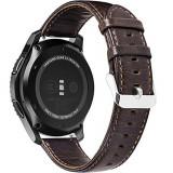 Cumpara ieftin Curea piele Smartwatch Samsung Gear S3, iUni 22 mm Vintage Dark Coffee