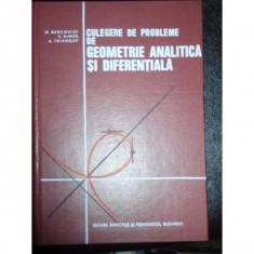 Culegere de probleme de geometrie analitica si diferentiala