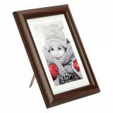 Rama foto vintage, 15,7×21 cm, material lemn, maro