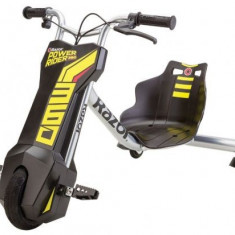 Tricicleta electrica copii Razor PowerRider 360, Viteza 14 km/h (Negru)