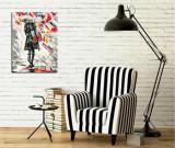 Tablou decorativ pe panza Majestic, 257MJS1301, Multicolor