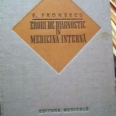 Erori de diagnostic in medicina interna – E. Fronescu