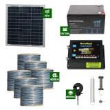 Gard electric Animale Sălbatice 6,6J putere cu Sârmă 6000m și Panou Solar