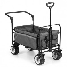 Waldbeck Easy Rider, cărucior de până la 70 kg, telescopic, pliabil, gri