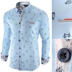 Camasa pentru barbati, albastru deschis, slim fit, casual - London Town