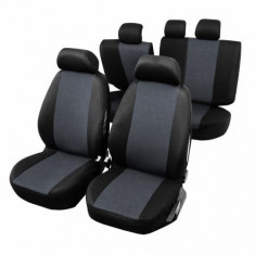 Huse Scaune Auto Dacia Nova RoGroup cu airbag pt bancheta rabatabila fractionata 9 bucati