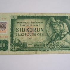 MDBS - BANCNOTA CEHOSLOVACIA - 100 KOROANE - 1961