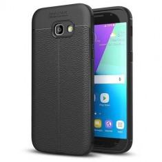 Husa Iberry Litchi Flexible Neagra Pentru Samsung Galaxy A5 A520 2017, Negru, Silicon, Carcasa