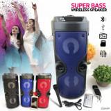 Boxa portabila ZQS-4209 cu bluetooth, lumini led, telecomnda, intrare microfon