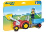 Cumpara ieftin 1.2.3 Tractor cu Remorca, Playmobil