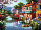 Puzzle Anatolian - Quaint Village Shops 1000 piese