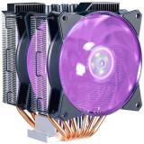Cooler procesor, MasterAir MA620P, soc. LGA 2066/2011(3)/1366/115x/775/FMx/AMx, Al-Cu, 6* heatpipe, 2x MasterFan MF120R RGB w/ RGB controller