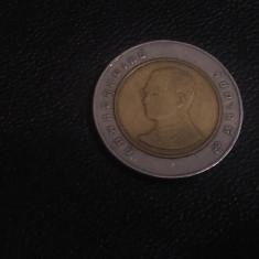 Monedă 10 baht Thailanda