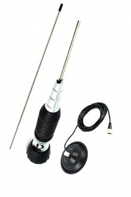 Antena statie cu unghi reglabil CB ART12749 cu magnet Ø145 ManiaCars foto