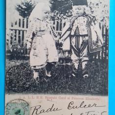 Sinaia Familia Regala Printul Carol si Printesa Elisabeta TCV