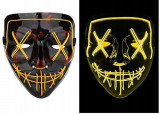Cumpara ieftin Masca Purge Horror cu LED, galben