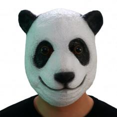 Masca latex urs Panda bear petrecere Halloween Cosplay animal zoo +CADOU!