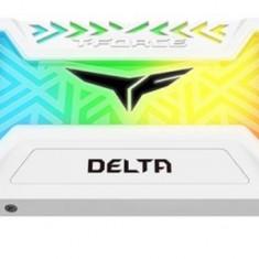 SSD TeamGroup T-Force Delta, 500GB, SATA III, 2.5inch, Iluminare RGB (Alb)
