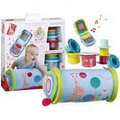 "Set jucarii pentru bebe - telefon, pahare, jucarie gonflabila ""Essentials"" Girafa Sophie Vulli"