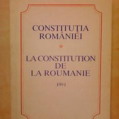 Constitutia Romaniei 1991 , editie biligva romana-franceza