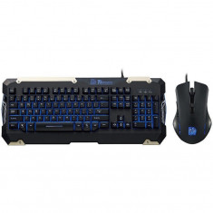 Kit Tt eSPORTS COMMANDER Gaming Gear Combo, tastatura semi mecanica