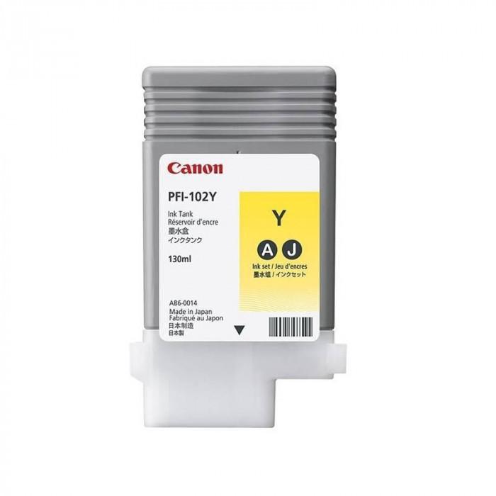 Cartus cerneala canon pfi-102y yellow capacitate 130ml pentru canon lp17