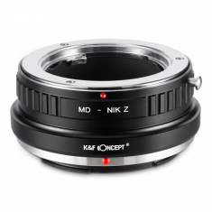 K&F Concept MD-Nik Z adaptor montura de la Sony Minolta MD la Nikon Z6 Z7 KF06.374