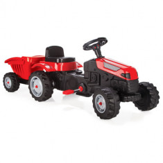 Tractor cu Pedale si Remorca ACTIVE Rosu
