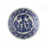 Farfurie traditionala ceramica albastra de corund 24 cm model 1 | Invie Traditia