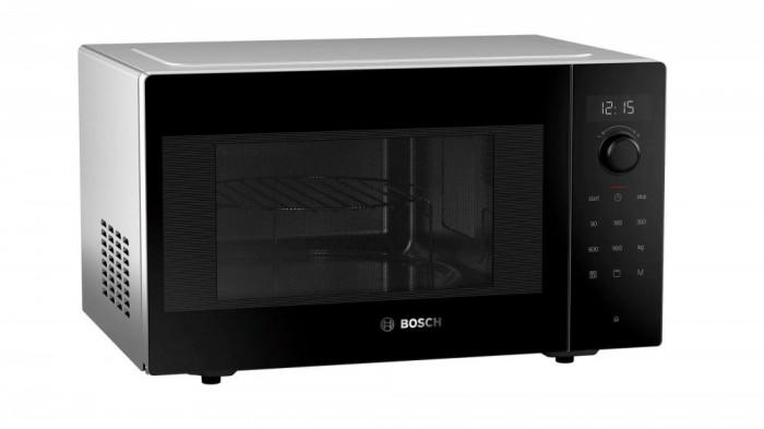 Cuptor cu microunde Bosch FEM553MB0, Functie grill, 25 L, 900 W, Negru