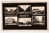 Lot trei cp Ploiesti 1942 cenzura Stadionul 1937 si Restaurantul Trocadero 1936, Necirculata, Fotografie