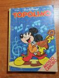 topolino - carte pt copii cu benzi desenate si jocuri in limba italiana-din 1981