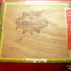 Cutie veche pt. Trabuce- Brasilva ,pirogravata ,dim.=16,8x14cm
